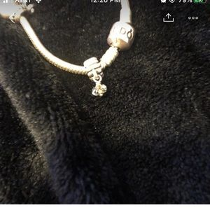 Clear dangle pandora charm